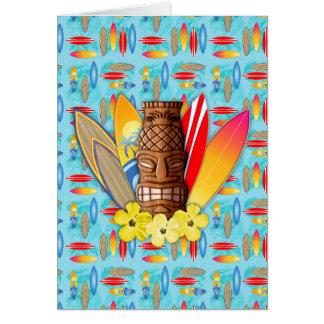 Cartes Masque et planches de surf de Tiki