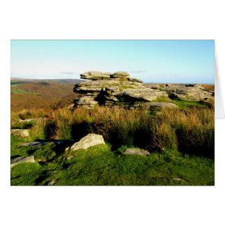Cartes Massif de roche de Dartmoor en automne