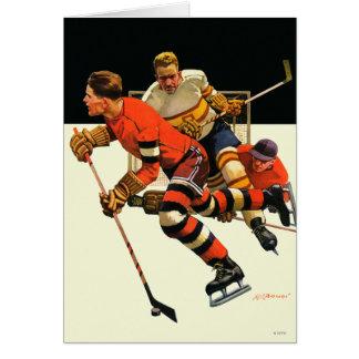 Cartes Match de hockey sur glace