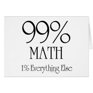 Cartes Maths de 99%