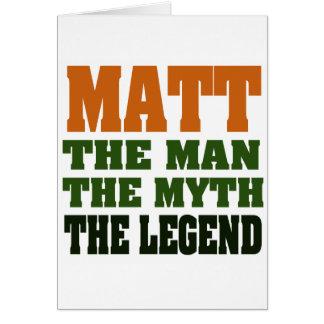 Cartes MATT - l'homme, le mythe, la légende