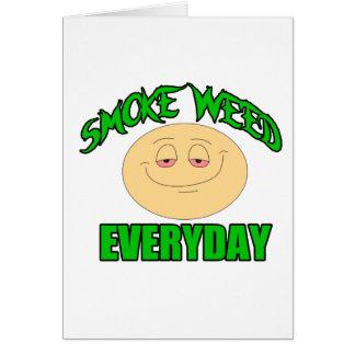 Cartes Mauvaise herbe de fumée chaque smiley élevé drôle
