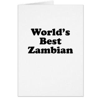 Cartes Meilleur zambien du monde