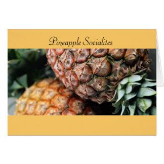 Cartes Membres de la haute société d'ananas
