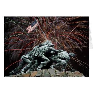 Cartes Mémorial de guerre de Corp. marine avec des feux