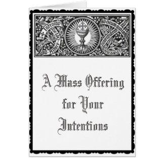 Cartes Mémorial de offre de la masse catholique