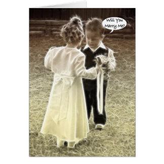 Cartes M'épouserez-vous ? Proposition de mariage