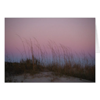 Cartes Mer de coucher du soleil à l'île de Sullivan, Sc