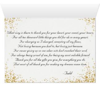 Cartes Merci à la mère du marié