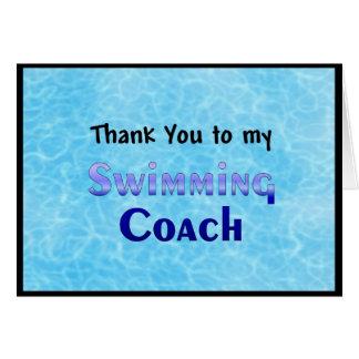 Cartes Merci à mon entraîneur de natation