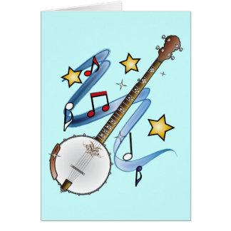 Cartes Merci à un professeur de banjo