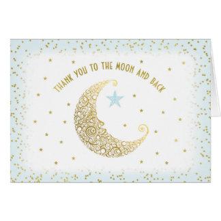 Cartes Merci au scintillement de lune et de dos peu