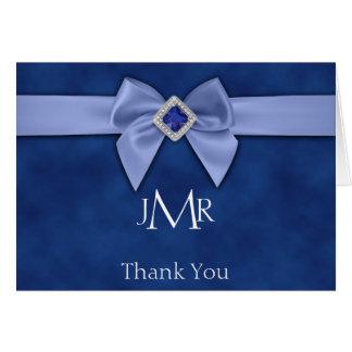 Cartes Merci bleu d'anniversaire d'arc quarante-cinquième