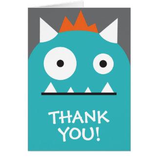 Cartes Merci bleu de monstre