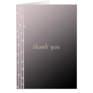 Cartes Merci classique de mariage de rose de diamant