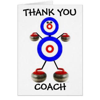 Cartes Merci courbant l'entraîneur