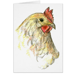 Cartes Merci d'animal de ferme de poule de poulet