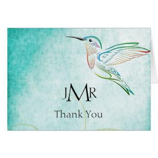 Cartes Merci d'anniversaire d'aquarelle de colibri d'Aqua