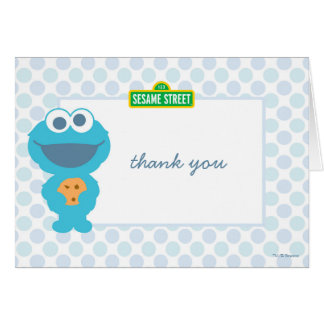 Cartes Merci d'anniversaire de bébé de monstre de biscuit