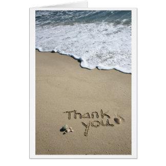 Cartes Merci dans le sable