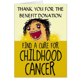 Cartes Merci d'avantage de Cancer d'enfance