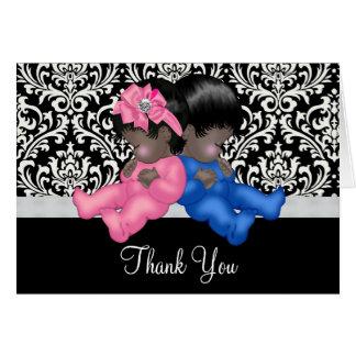 Cartes Merci de baby shower d'Afro-américain