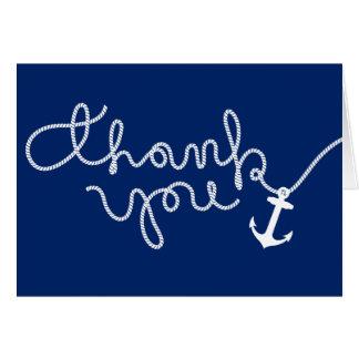 Cartes Merci de baby shower d'ancre nautique et de corde