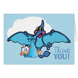 Cartes Merci de baby shower de garçon de dinosaure de