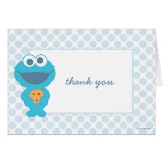 Cartes Merci de baby shower de monstre de biscuit