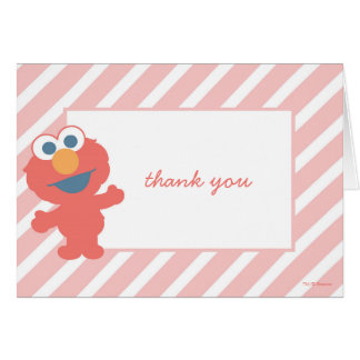 Cartes Merci de baby shower d'Elmo