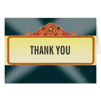 Cartes Merci de bat mitzvah de barre de chapiteau de