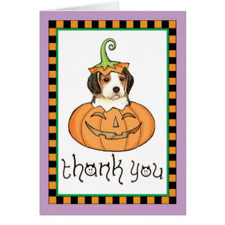 Cartes Merci de beagle de Halloween