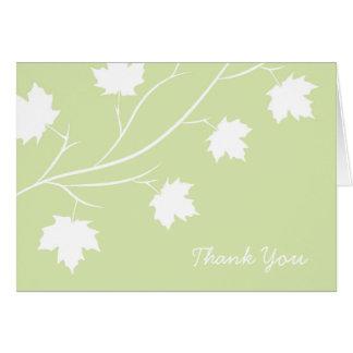 Cartes Merci de branche de feuille de ressort