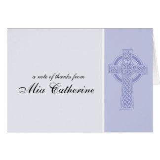 Cartes Merci de communion de croix celtique première
