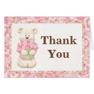 Cartes Merci de fête d'anniversaire d'ours de nounours