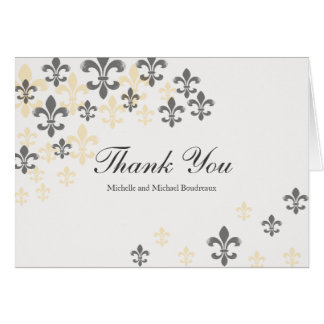 Cartes Merci de Fleur de Lis Cascade