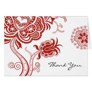 Cartes Merci de fleur de Lotus