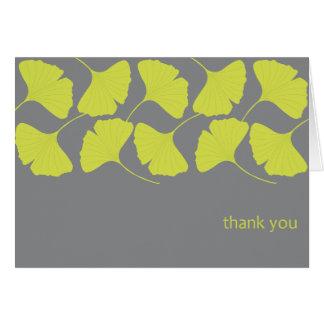 Cartes Merci de Ginkgo/gris