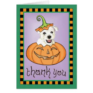 Cartes Merci de Halloween Westie