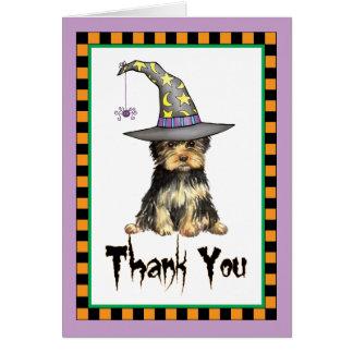 Cartes Merci de Halloween Yorkie