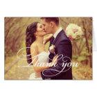 Cartes Merci de manuscrit de la photo | de mariage