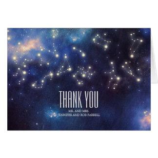 Cartes Merci de mariage de constellation