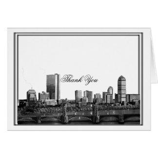 Cartes Merci de mariage de destination de Boston