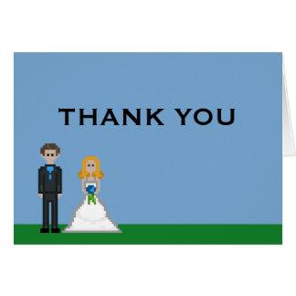 Cartes Merci de mariage de jeune mariée blonde et de