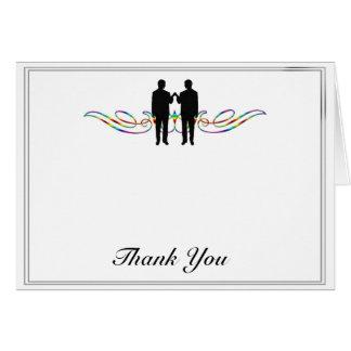 Cartes Merci de mariage de marié d'élégance d'arc-en-ciel