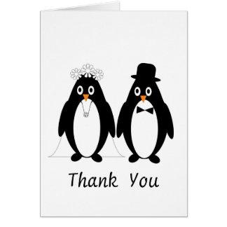 Cartes Merci de mariage de pingouin