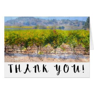 Cartes Merci de mariage de vignoble et d'établissement