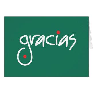 Cartes Merci de Noël de Gracias dans toute langue