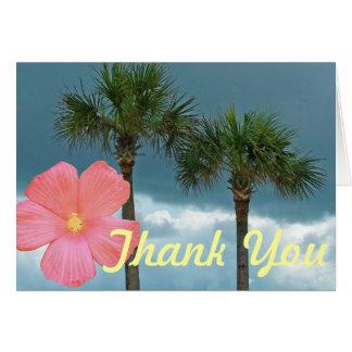 Cartes Merci de palmiers et de ketmie