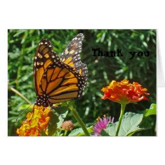 Cartes Merci de papillon de monarque donné des ailes à la